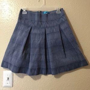 Buttons Blue Denim Women's Mini Skirt
